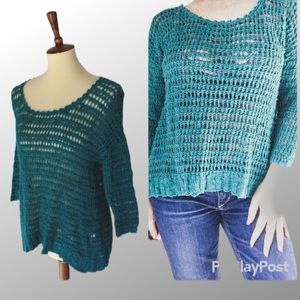 🌻 Lucky Brand cable knit pullover top S